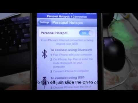 How to : Internet tethering on IPhone for Mac and windows