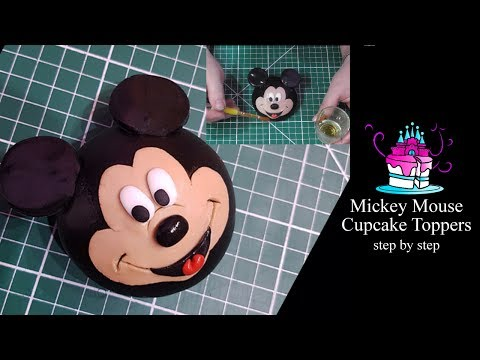 Mickey Mouse Cupcake Topper - Step by Step