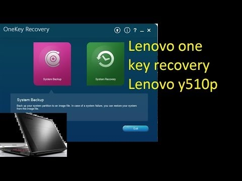 Lenovo Y510p One Key Recovery (set Y510p to Factory Setting)