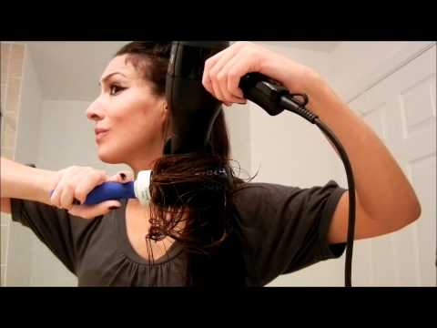 How to Blow Dry Frizzy, Curly Hair Silky Straight in 13 Minutes! (No Straightener) - Jewels TV
