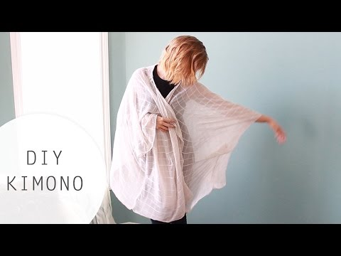 DIY: Kimono Tutorial Using a Scarf