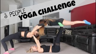 three person yoga challenge