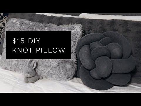 $15 DIY Knot Pillow ( SO EASY!)   Pinterest Inspired   Minimalist Home Decor   NOVAKATE