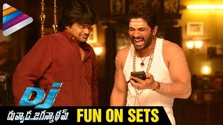 Allu Arjun Fun on Sets | DJ Duvvada Jagannadham Movie | Pooja Hegde | Harish Shankar | Dil Raju