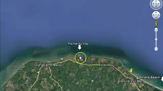D Day Invasion Beaches June 6, 1944 from Google Earth