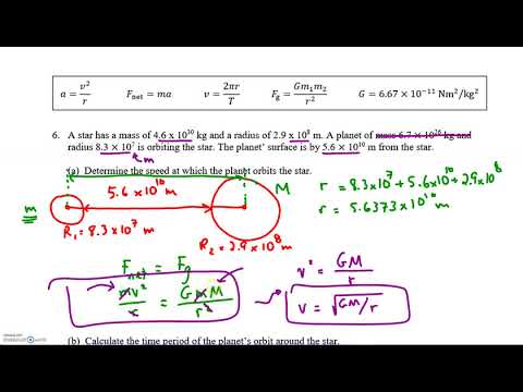 Calculating Orbital Speed and Period