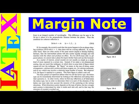 How to Write Margin Note in LaTeX (Latex Advanced Tutorial-11)