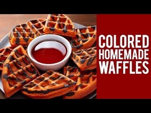How to Make Colored Homemade Waffles