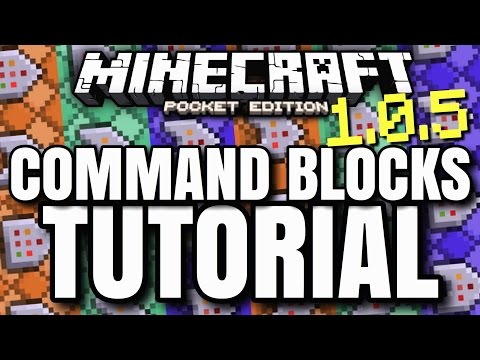 MCPE 1.0.5 COMMAND BLOCKS TUTORIAL! // How to use new command blocks! [Minecraft PE 1.0.5]