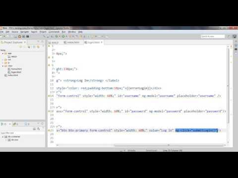 login using angularjs