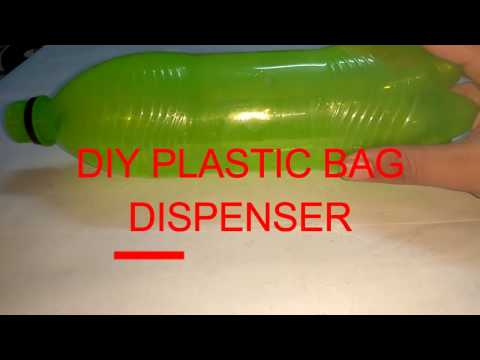 [DIY] HOW TO MAKE A PLASTIC BAG DISPENSER at home very easily......