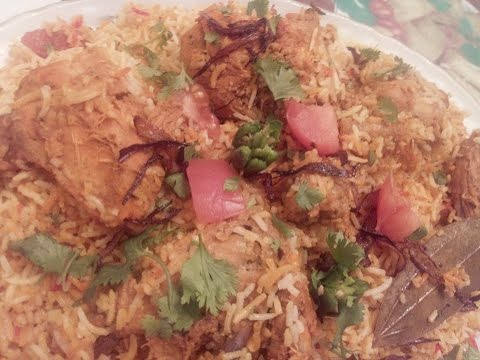 CHICKEN TIKKA BIRYANI (IN URDU/HINDI) BY SEHAR SYED.  चिकन तिकाका बिर्यानी रसीप
