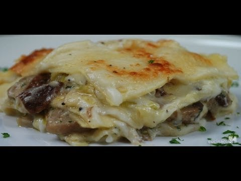 Porcini Mushroom Lasagne - traditional italian recipe
