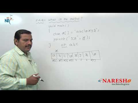 Strings | C Technical Interview Questions and Answers | Mr. Ramana