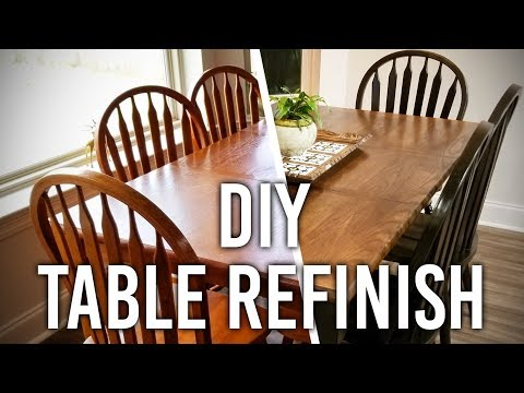 How to Refinish a Table : DIY