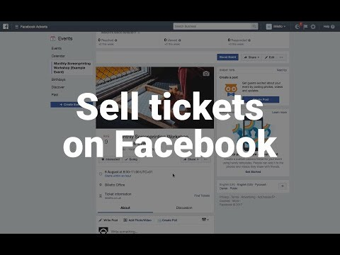 How to sell tickets on Facebook | Billetto