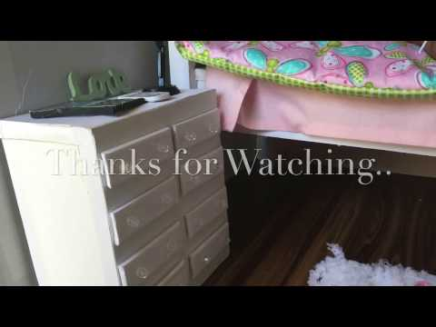 HOW TO MAKE A DOLL DRESSER | SIDE TABLE | AMERICAN GIRL |18
