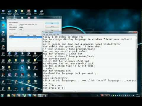 Change Windows 7 Home Basic/Premium display language [HD]