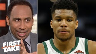Stephen A. doesn't believe Giannis Antetokounmpo will lead the Bucks to the NBA Finals | First Take