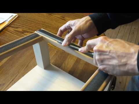 Inserting A Gripper Strip Into Rug Hooking Frame