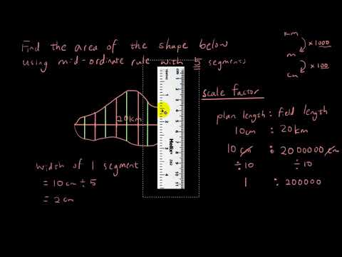 Year 12 Maths A - Mid-ordinate rule problem with scale factor