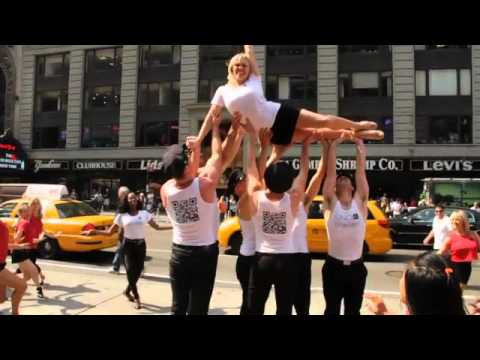 Shellac Flash Mob in Times Square during New York Fashion Week!