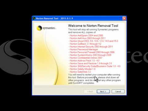 How to download and use the Norton Removal Tool
