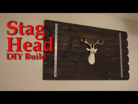 Stag head wall decor - DIY tutorial
