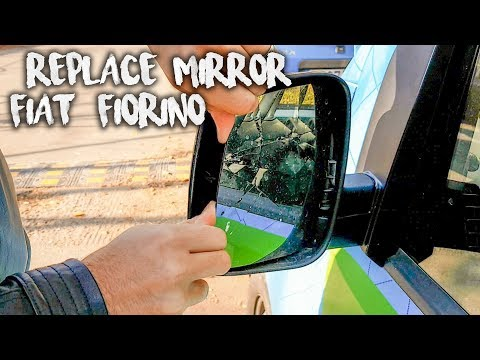 DIY, how to change a heated mirror glass Fiat Fiorino 2007-2013