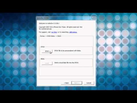 How to Stitch SHSH Blobs to an ipsw file for easy downgrading