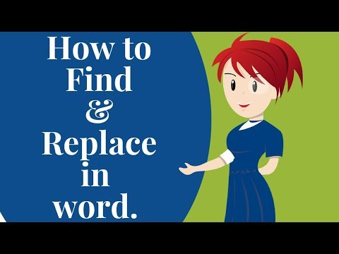 How to find and replace in word.