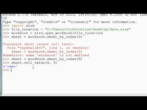 How to read Excel files with Python (xlrd tutorial)