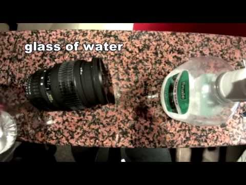 How to clean lens rubber from white oxidation