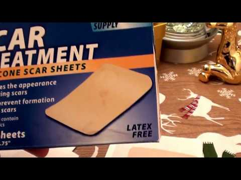 SCARS? SURGERY SCARS? ACNE SCARS? REDUCE SCARS CVS Silicone Scar Treatment Sheet