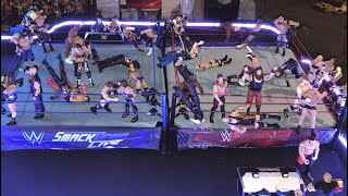 WWE 40 Man Battle Royal RAW vs Smackdown Live - 2 Ring Chaos 2017