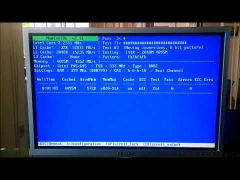 RAM MEMORY TEST WITH Memtest86
