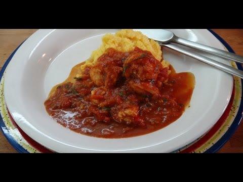 Healthy & Easy Shrimp in Tomato Sauce & Basil Recipe