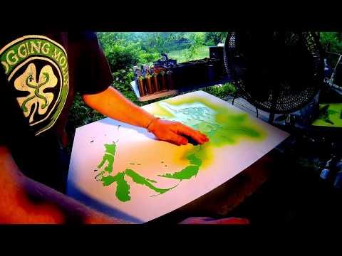 Multi Layer Stencil On Canvas.