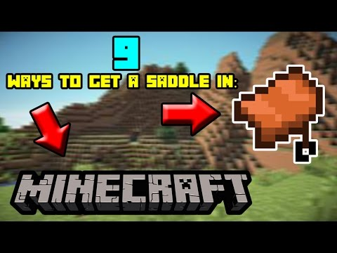 9 Ways To Get The Saddle In Minecraft!