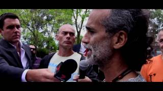 Santos Bonacci outside court, Melbourne, Australia, April 1st 2014