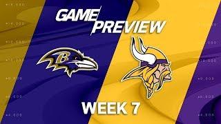 Baltimore Ravens vs. Minnesota Vikings   Week 7 Game Preview   Move the Sticks