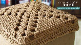 Capa Para Puff De Crochê   Qualquer Tamanho - Jny Crochê