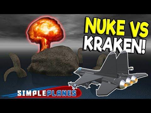 NUKING THE KRAKEN & ADVANCED COCKPIT MOD! - Simple Planes Creations Gameplay - Best Creations