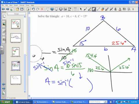 Law of Sines (Two Triangles)
