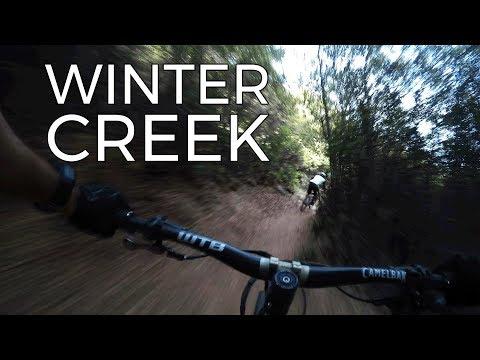 Big Descent on Winter Creek Trail - Mt Wilson - Shuttles with SCOA