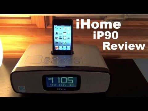 iHome iP90 Dual Alarm Clock Radio | iPhone/iPod w/ AM/FM