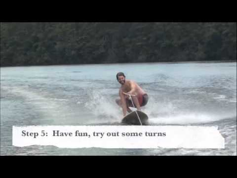 How to Surf behind a boat with rope and handle (not wake surfing) The POSSM, surfboard