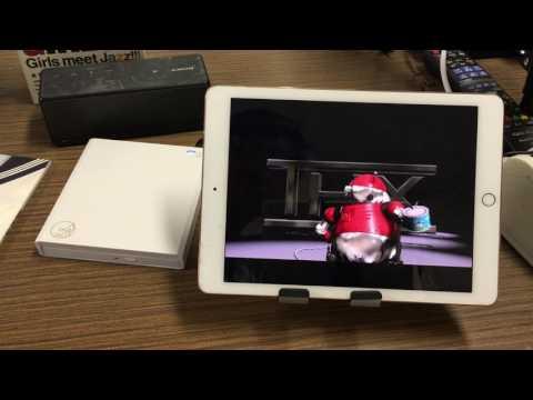 iPadでDVDを見る。