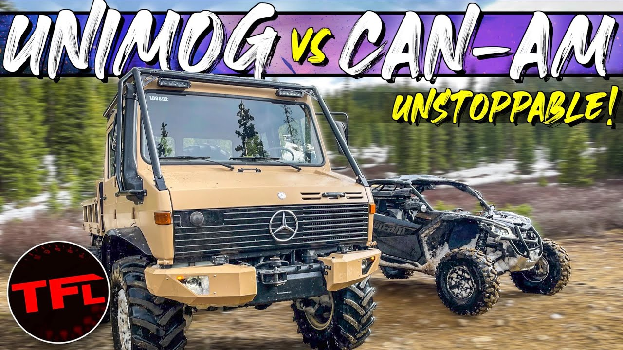 Mercedes Unimog vs Can-am Maverick vs Rocky Mountains - One Gets Stuck, The Other One Keep Going!