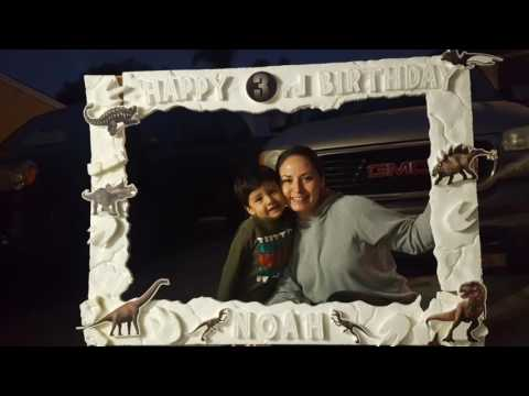 Dinosaur Party Picture Frame